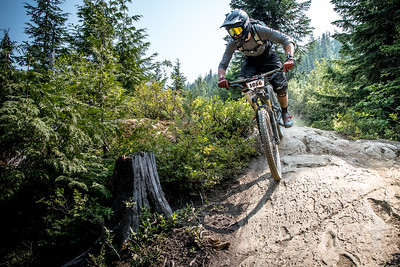 Alain Schiebel. Bell Helmets Canadian Open Challenger Enduro presented by CamelBak. Crankworx Whistler 2017. Photo by: Scott Robarts