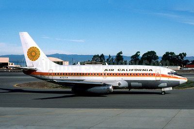 Air California Boeing 737-222 N73714 (msn 19072) (Aloha colors) MRY (Fernandez Imaging Collection). Image: 904529.