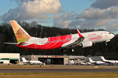 Air India Express Boeing 737-8HG WL VT-AXV (msn 36333) (Sonark Sun Temple) BFI (Rick Schlamp). Image: 904993.