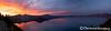 Crater Lake Sunset Panorama