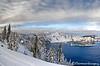 Skiing Along The Rim