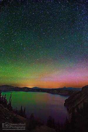 """The Melting Pot,"" Cloudcap Bay Aurora Borealis, Crater Lake, Crater Lake National Park"