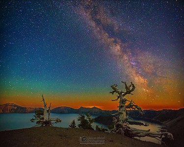 """Wizards, Trees, and the Milky Way,"" Crater Lake, Crater Lake National Park, Oregon"