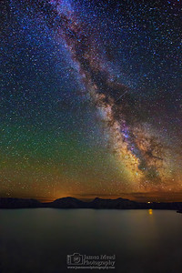 """Into the Night,"" The Milky Way over Crater Lake, Crater Lake National Park"
