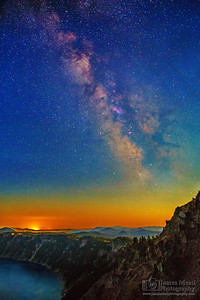 """False Sunrise,"" Crater Lake Milky Way, Crater Lake National Park, Oregon"