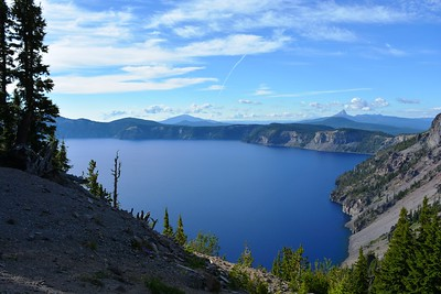 East Crater Lake with Mt. Thielsen in distance