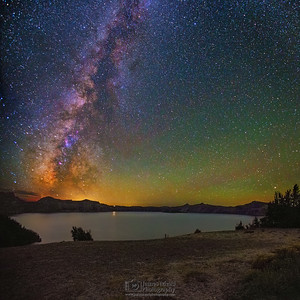 """Eternity's Glow,"" Grotto Cove Milky Way, Crater Lake, Crater Lake National Park, Oregon"