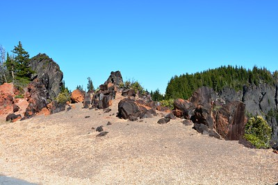 Rock formations on East end of Crater Lake