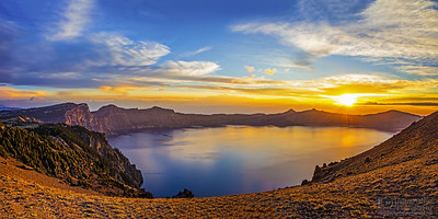 """Last Dance,"" Cloudcap sunset over Crater Lake, Crater Lake, Crater Lake National Park"