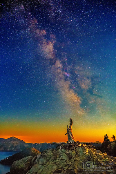 """Moonlit Snag,"" Crater Lake, Crater Lake National Park, Oregon"