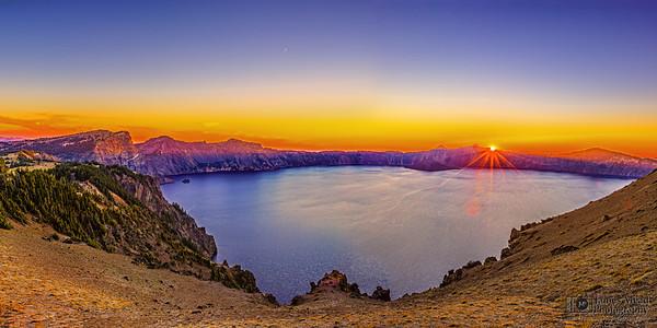 """""""Mazama's Requiem,"""" Crater Lake Sunset, Cloudcap Overlook, Crater Lake, Crater Lake National Park, Oregon"""