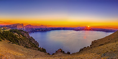 """Mazama's Requiem,"" Crater Lake Sunset, Cloudcap Overlook, Crater Lake, Crater Lake National Park, Oregon"