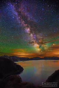 """Night Enchantment,"" The Milky Way over Cleatwood Cove, Crater Lake, Crater Lake National Park"