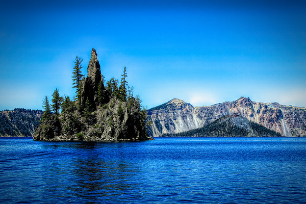 Crater Lake at water level