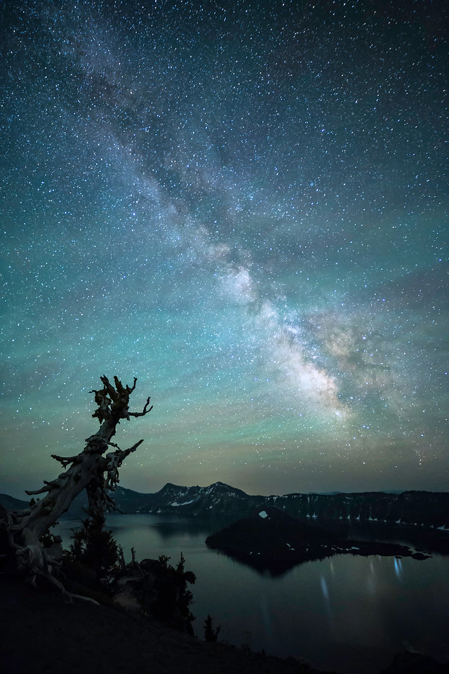 Milky Way and Reflections at Crater Lake