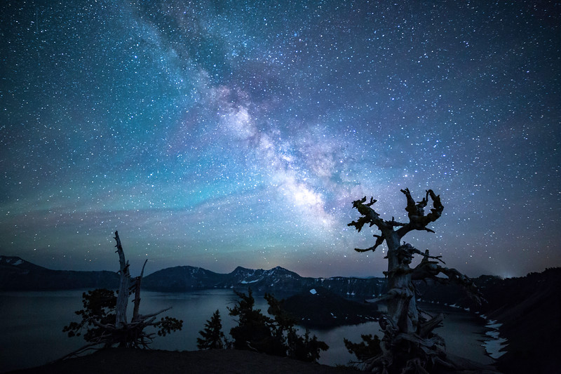 Milky Way at Crater Lake Over Old Bristlecone
