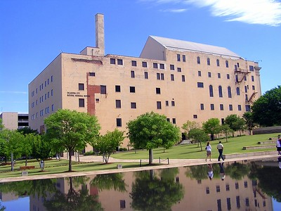 "This is the southern view of the ""Journal Record"" building that now is home to the Oklahoma City National Memorial Museum."