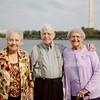 Edna, Ralph, and Virginia see the memorials in Washington DC!
