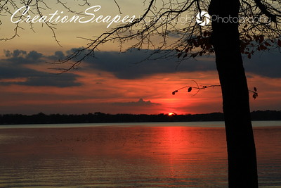 Sunset over Gun Lake Yankee Springs State Park Michigan