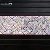 """""""Allée des saveurs 2"""", sept. 2017.<br> Patchwork mural pour I.C. - 140 x 47 cm.<br>"""