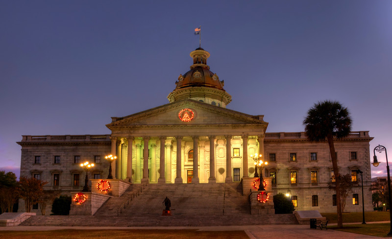 State House at Christmas at dusk in HDR<br /> © Sparkle Clark