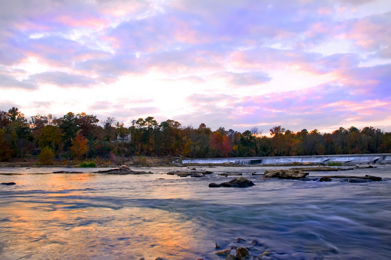 Sundown at the Riverfront Park Broad River in HDR<br /> © Sparkle Clark