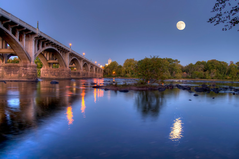 Gervais Street Bridge at Dusk in HDR<br /> <br /> © Sparkle Clark