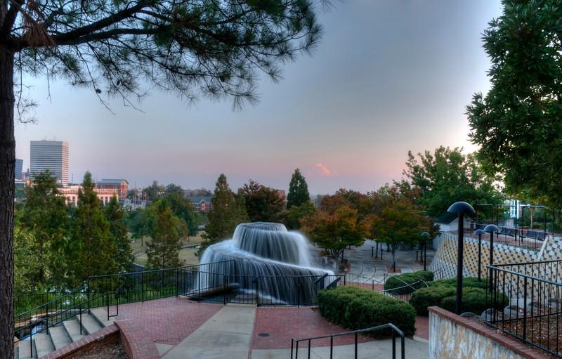 Finlay Park fountain at dusk, HDR<br /> © Sparkle Clark
