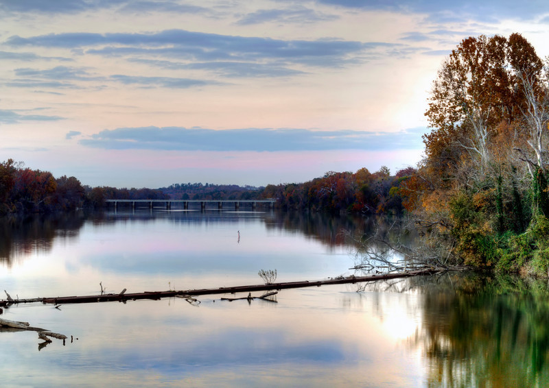 Sundown at the Riverfront Park Log Jam in the Broad River in HDR<br /> © Sparkle Clark