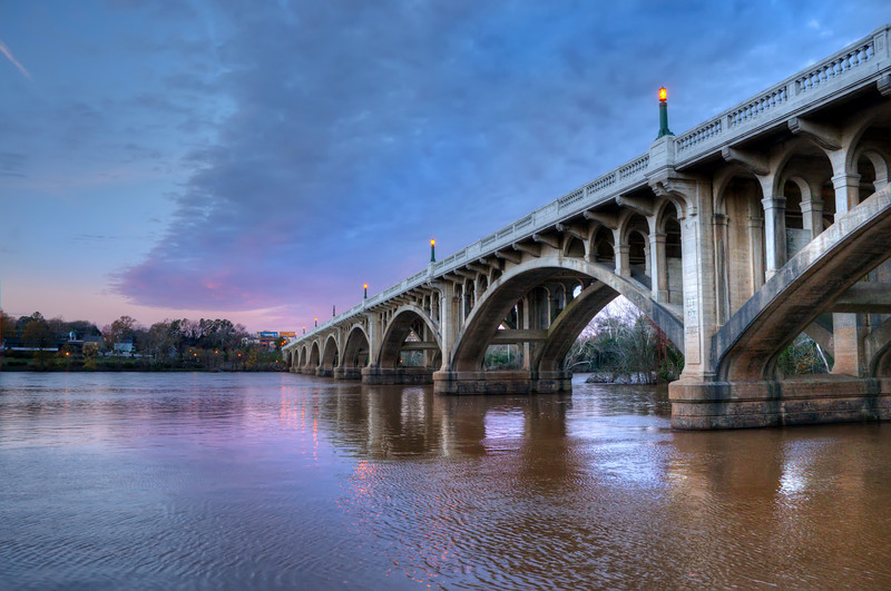 Gervais St. bridge at Winter's Dawn in HDR<br /> © Sparkle Clark