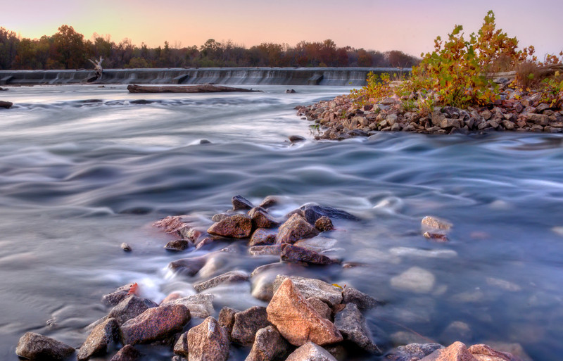 The River Rocks at the Diversion Dam at Dusk in HDR<br /> © Sparkle Clark