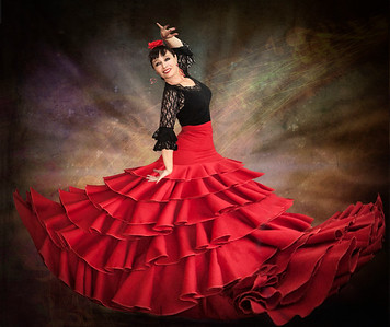 flamenco dance red