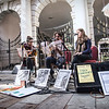Gibraltar - 15th November 2014 - Pictured the Bookshop Band playing at the Piazza. The 2014 programme for the Gibunco Group Gibraltar International Literary Festival is underway following the success of our inaugural year in 2013. The three day event started yesterday with a full programme of lectures and talks by both local and international authors. Today, the Literary Festival went into the public arena with a Gibraltar Radio roadshow at the Piazza where several writers were interviewed and the band Bookshop Ban performed to Saturday shoppers. A full programme of events continues today and tomorrow Sunday.
