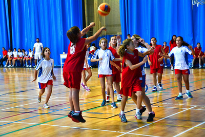 Junior Basketball at the Victoria Stadium during The Straits Games held in Gibraltar 2014.