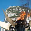 The Special Olympics torch burnt under the Rock of Gibraltar as the Special Olympics Gibraltar got underway.