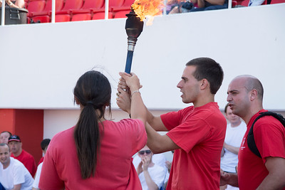 The  Special Olympics Gibraltar saw the traditional torch relay across the tracks of Victoria Stadium.