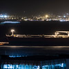 The port of Gibraltar struck by severe gale force winds at night