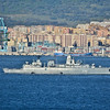 Gibraltar - German frigate F215 Brandenburg enters Bay of Gibraltar enroute to Algeciras