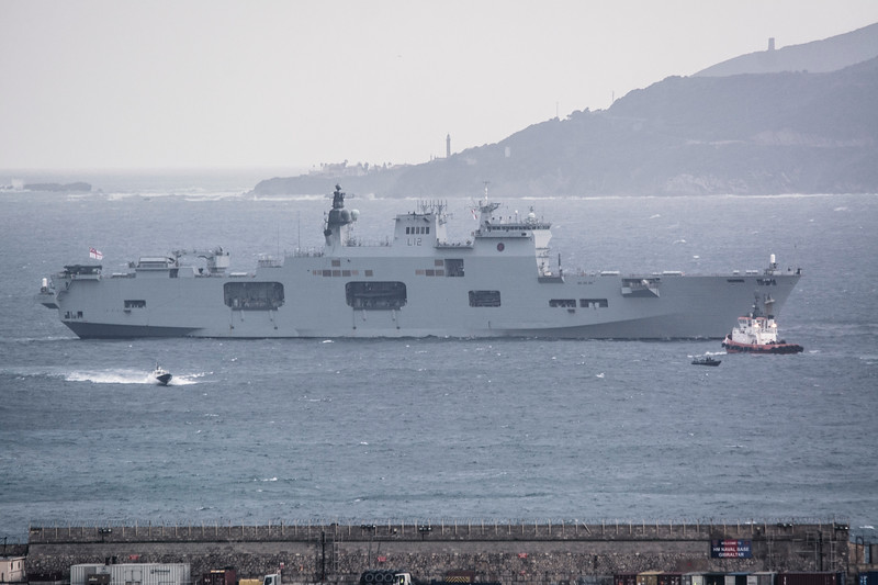 HMS Ocean limps into Gibraltar 24 hours after expected arrival time
