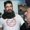Cross border groups from both Spain and Gibraltar announced that there would be a protest on the 30th January 2014 against the continued delays at the border created by Spanish restrictions. The press conference took place at the Gibraltar International Airport In images Juan Jose Uceda from one of the leading members of the Spanish groups protesting against the border delays. Alongside members from Ascteg, Apymel, Unite the Union, Fronterizos, CGT, several local social clubs and NGO groups from both sides of the border. All Images available for purchase from http://corephotographygibraltar.com News-Stock Collection as Hi-Res digital downloads and prints for both Editorial and Personal Use. Or contact stephen.ignacio@core-photos.com for further details on how to obtain.