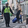Police evacuate road during a Bomb disposal unit operation in Gibraltar
