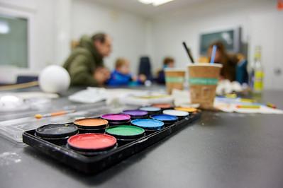 Wasserfarbe im Atelier
