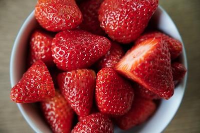 Erdbeeren in Schale