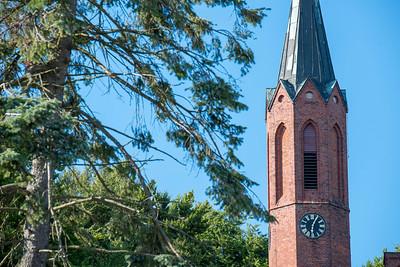 Kirchturm in Sassnitz