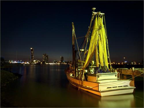 Night Fishing Trawler