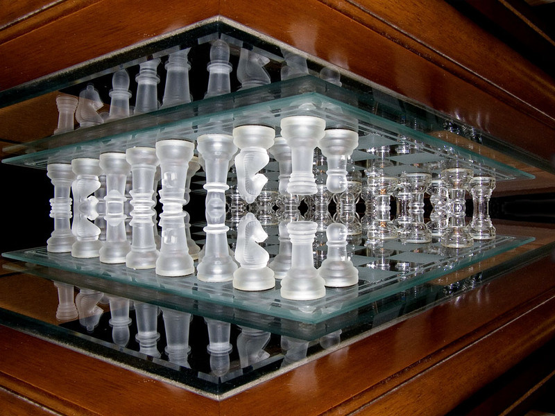 Chess  tables reflected
