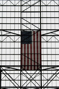 American Flag This flag is flying inside the Vehicle Assembly Building