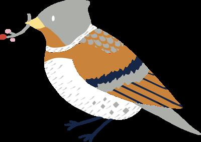 Winter Birds Clip Art