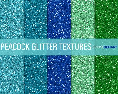 Peacock Glitter Textures