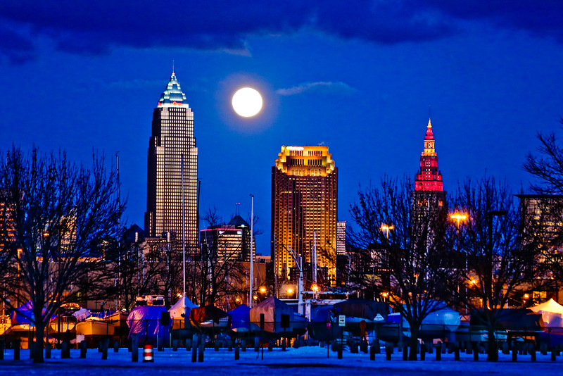 CLE Winter Sunset